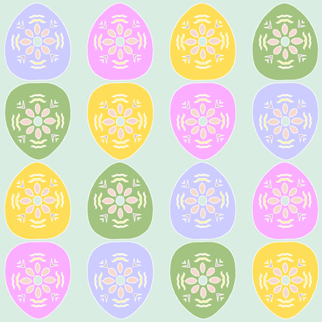 easter_eggs fabric by rcmj on Spoonflower - custom fabric