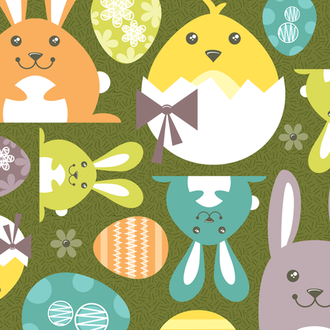 Egg Hunting fabric by brandipowell on Spoonflower - custom fabric
