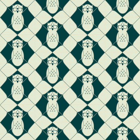 Equation Owl Chevron fabric by spikymammal on Spoonflower - custom fabric