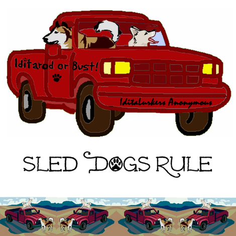 Sled Dogs Rule fabric by ravynscache on Spoonflower - custom fabric