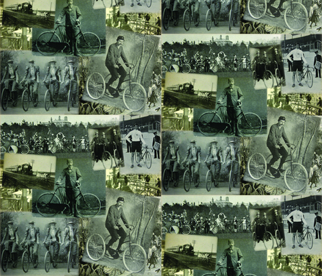 Victorian Bicycling: Medium fabric by callioperosehandcarjones on Spoonflower - custom fabric