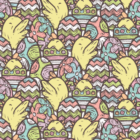 An UnEGGspected Surprise fabric by studiodono on Spoonflower - custom fabric