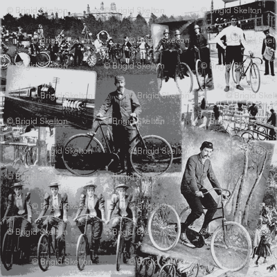 Victorian Bicycling: Medium Grey