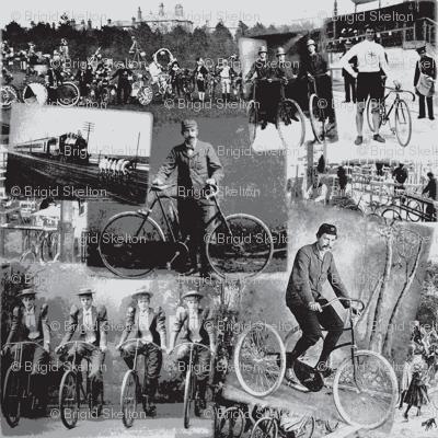 Victorian Bicycling: Medium Grey