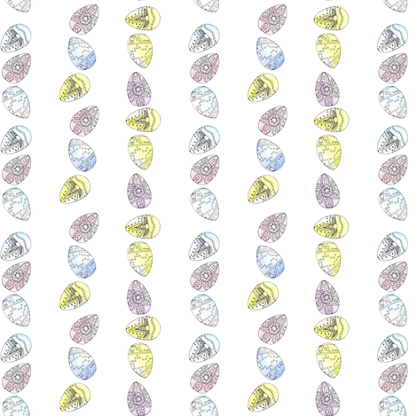 Watercolour_Eggs_Stripes fabric by louiseisobel on Spoonflower - custom fabric