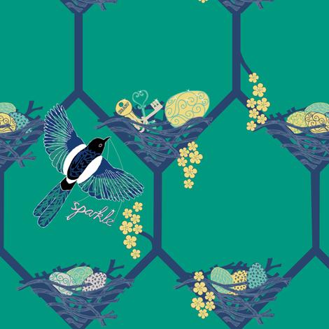 I love your sparkle! fabric by creative_merritt on Spoonflower - custom fabric