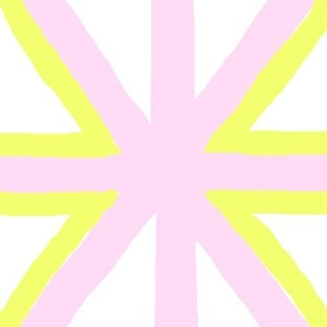 Pink and yellow fold