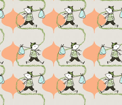 runaway pattern fabric by mummysam on Spoonflower - custom fabric