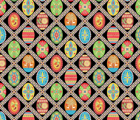 Egg-stravaganza (painted eggs) fabric by groovity on Spoonflower - custom fabric