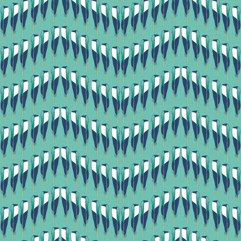 Magpie Feather Chevron Teal fabric by creative_merritt on Spoonflower - custom fabric