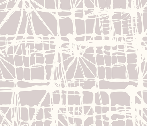 White threads. fabric by smalty on Spoonflower - custom fabric