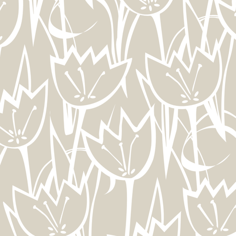 Tulips fabric by jillbyers on Spoonflower - custom fabric
