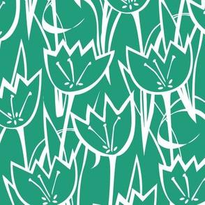 Tulips Emerald