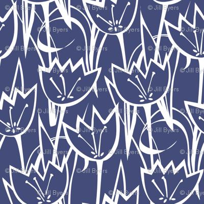 Tulips navy