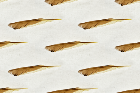 Feathers fabric by dianabrennan on Spoonflower - custom fabric