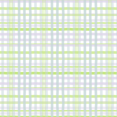Free Range Plaid (new grass, robin's egg blue + pale lilac) fabric by pattyryboltdesigns on Spoonflower - custom fabric