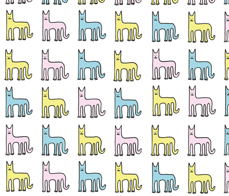 Cats fabric by philippittam on Spoonflower - custom fabric