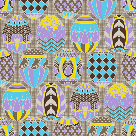 Floral Easter Eggs fabric by siya on Spoonflower - custom fabric