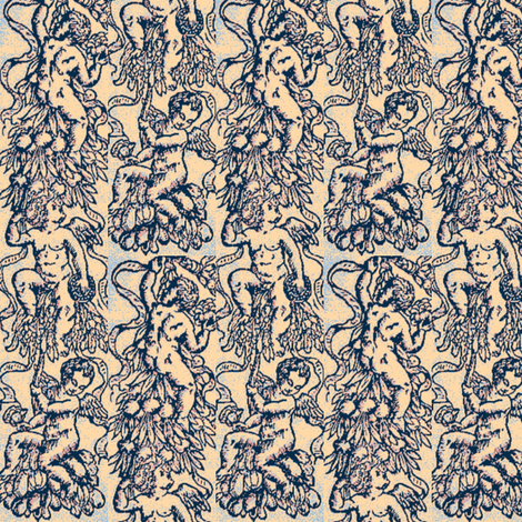 Frisbee Cherubs fabric by amyvail on Spoonflower - custom fabric