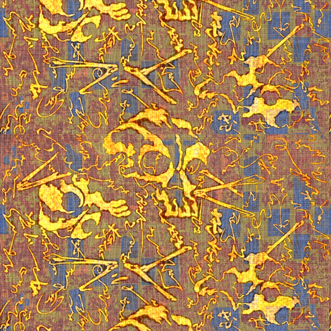 Dem dry bones - multi colored - Halloween fabric by materialsgirl on Spoonflower - custom fabric