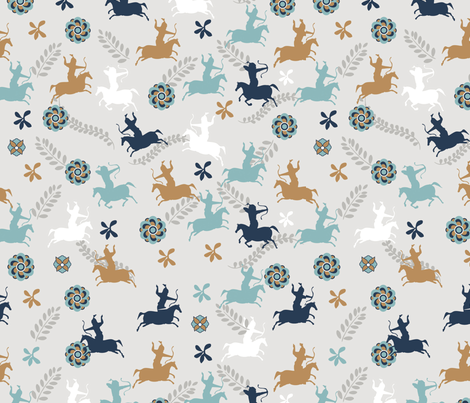 Lonely Wariors fabric by mysticadesign on Spoonflower - custom fabric