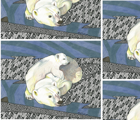 Arctic Hug fabric by fledgling on Spoonflower - custom fabric