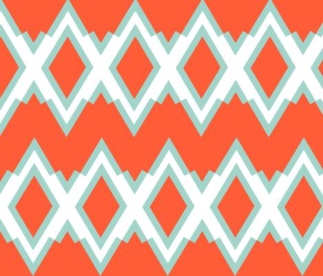 Hadley sea foam & coral fabric by fable_design on Spoonflower - custom fabric
