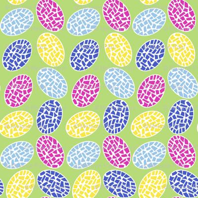 Easter Eggs Painted Mosaics