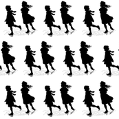 Silhouette Skating b/w