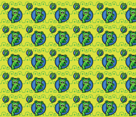 17_Bob_Green_Sine_Wave fabric by bob_smith on Spoonflower - custom fabric