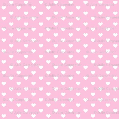 Hearts White on Cotton Candy