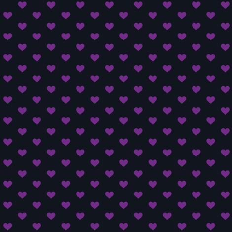 Hearts Purple on Black XS fabric by juliesfabrics on Spoonflower - custom fabric