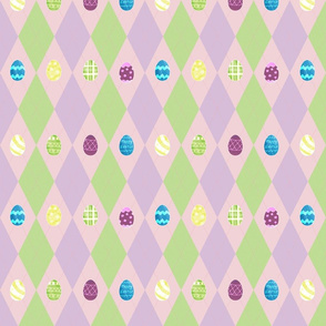 Easter Argyle with Painted Eggs