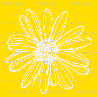 Daisy Fabric Yellow