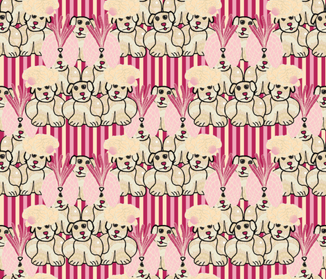 Lady Bertram had a pug (multicolor stripes) fabric by anniedeb on Spoonflower - custom fabric