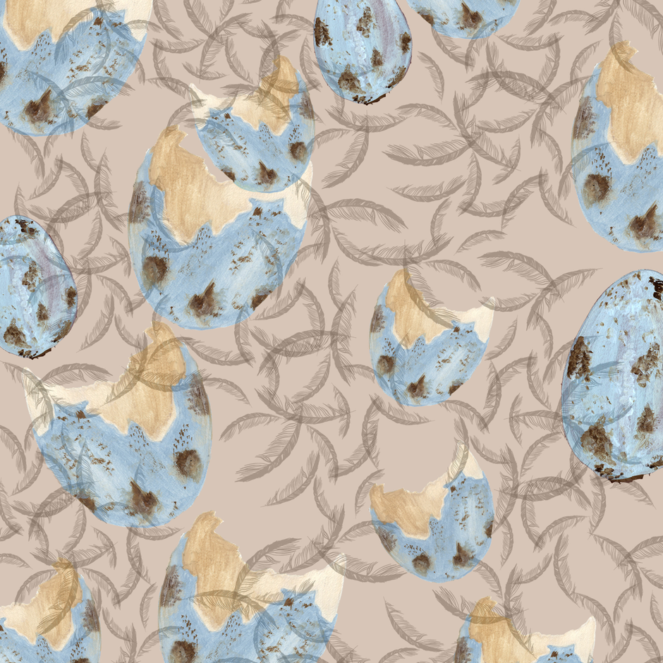 bird_and_feather_ fabric by devadaisy on Spoonflower - custom fabric