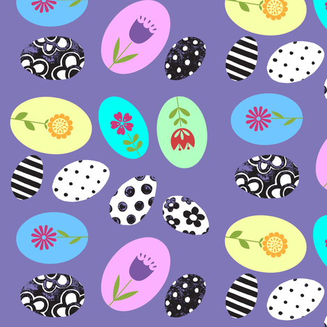 Painted Eggs fabric by painter13 on Spoonflower - custom fabric