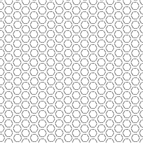 Grey Honeycomb fabric by spikymammal on Spoonflower - custom fabric