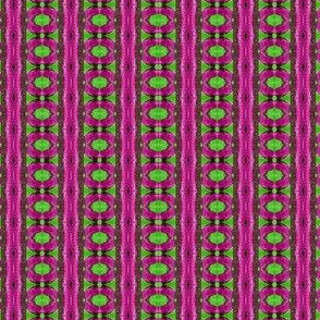 Green circles on pink