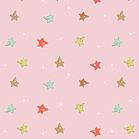Star Babies PINK fabric by puddlefoot on Spoonflower - custom fabric
