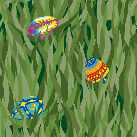 Painted_Egg_Easter_Camo fabric by relk on Spoonflower - custom fabric