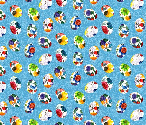 Easter Flowers fabric by beebumble on Spoonflower - custom fabric