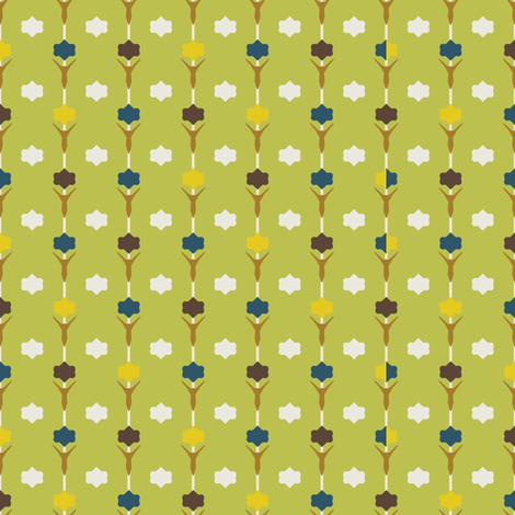 Tulip Green fabric by kathyjuriss on Spoonflower - custom fabric