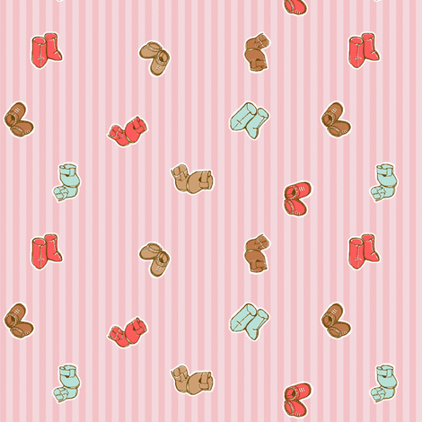 Doll Shoes fabric by puddlefoot on Spoonflower - custom fabric