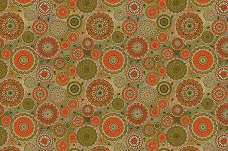 Tangerine Baroque fabric by elarnia on Spoonflower - custom fabric