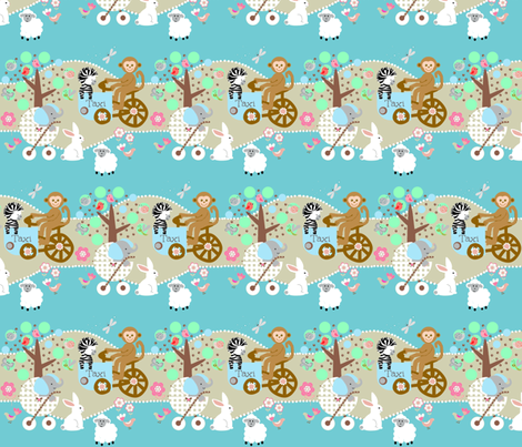 Busy Funday  fabric by paragonstudios on Spoonflower - custom fabric