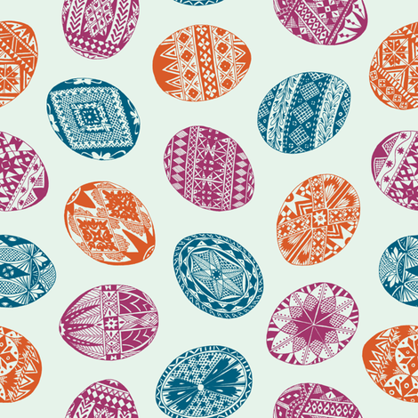 ZoeKeller_EasterEggs fabric by zoekellerdesign on Spoonflower - custom fabric