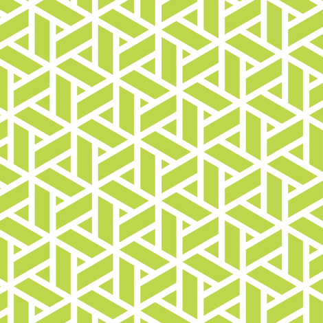 sankaku solid in peridot fabric by chantae on Spoonflower - custom fabric