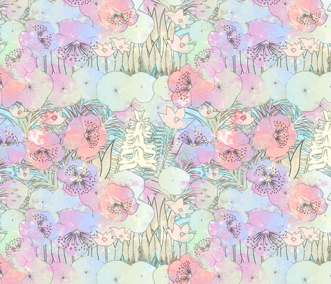 tropical flora fabric by kociara on Spoonflower - custom fabric