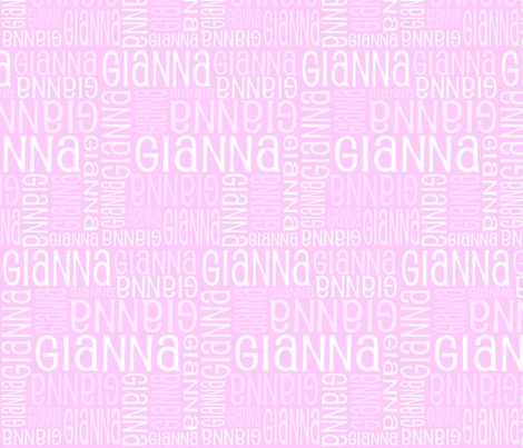 Personalised Name Fabric - Purple/Pink 3